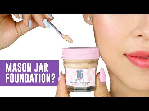 FOUNDATION IN A MASON JAR?!-  TINA TRIES IT