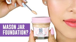 FOUNDATION IN A MASON JAR?!-  TINA TRIES IT