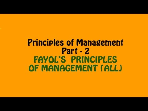 Fayol's Principles of Management (All), P.o.M. Part - 2, Prince Academy, 12th Business Studies