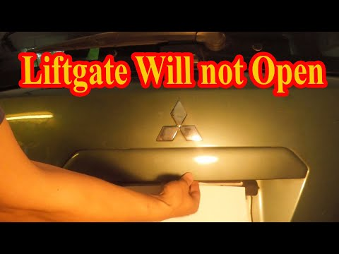 Liftgate and Hatch will not open DIY fix
