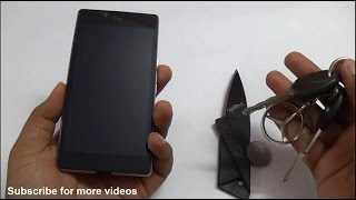 Micromax Yu Yuphoria Scratch Test with Knife, Keys and Coin