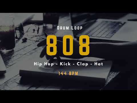 808 Hip Hop  Kick   Clap   Hat  144 BPM - Drum Loop