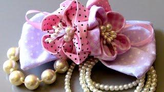Laço de Tecido com flores – Fabric lace with flowers