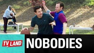 Basketball Pitching To Jason Bateman | Nobodies | Season 1