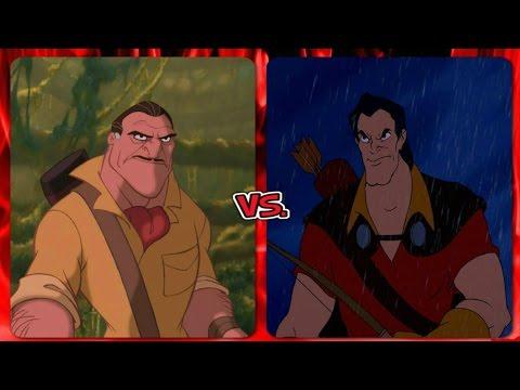 Disney Versus Battles: Clayton vs  Gaston (Feat. The Lazy Druid)