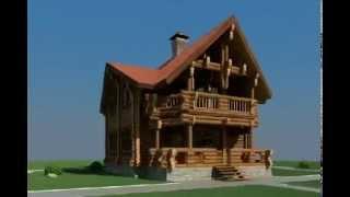 190 м2 Проект дома из оцилиндрованного бревна(, 2013-03-27T22:41:29.000Z)