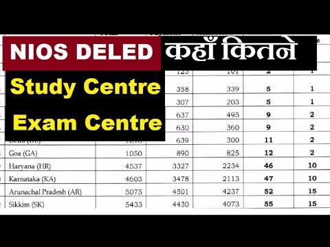 NIOS DELED कहाँ कितने Study Centre और  Exam Centre होंगे, जाने डिटेल में