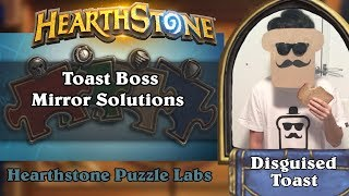 Hearthstone Puzzle Labs - Toast Boss Mirror Puzzle Solutions