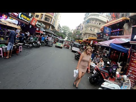 STREET 136 HOSTESS BARS 2019, STREETS OF PHNOM PENH CAMBODIA