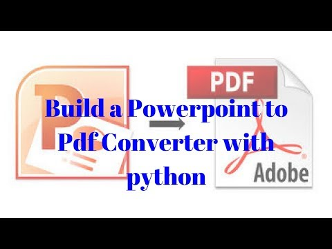 Powerpoint to PDF Converter with python - YouTube