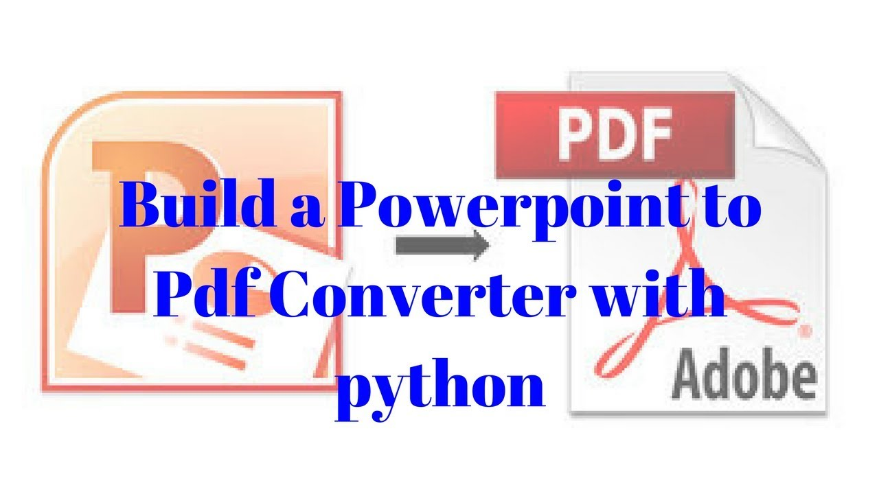 Powerpoint to PDF Converter with python