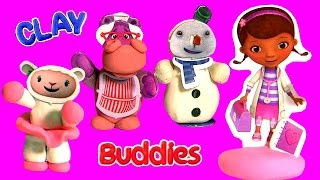Massinha Clay Buddies Surpresa Doutora Brinquedos Desenho da Disney em Portugues BR Doctora Juguetes