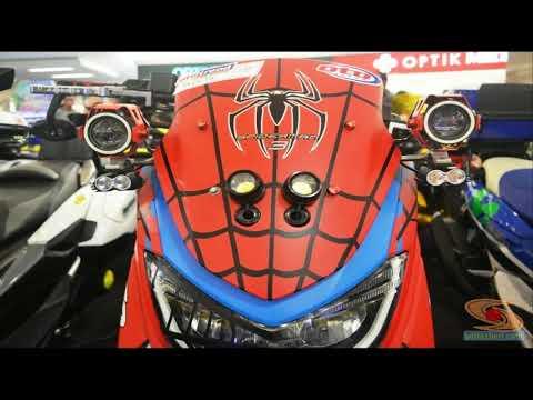 FuLL Modifikasi Yamaha  Nmax Merah 2017 Ala Spiderman