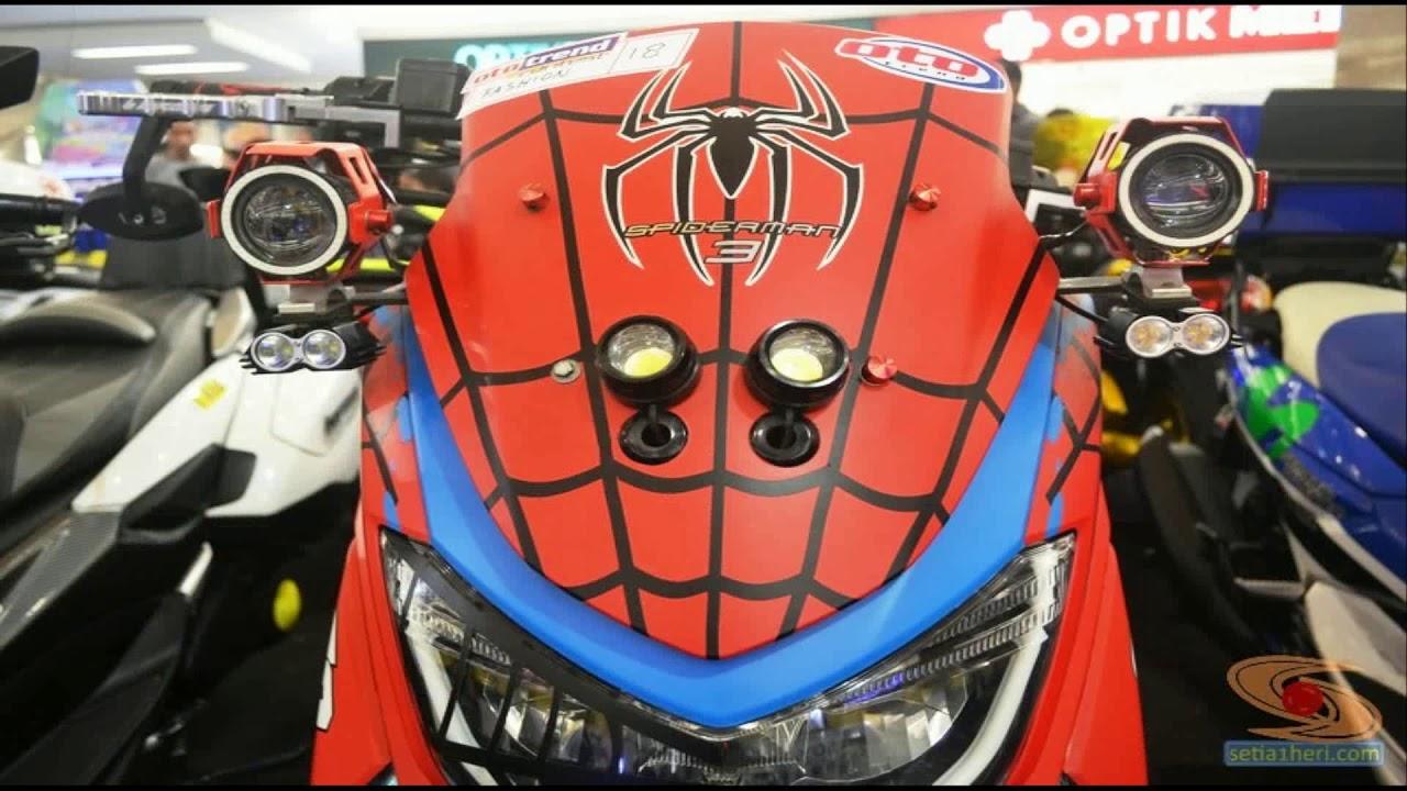 full modifikasi yamaha nmax merah  ala spiderman youtube