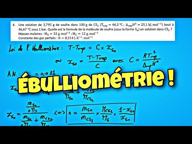 Loi de l'ébulliométrie