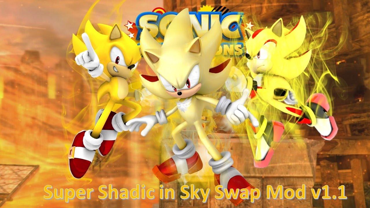 Sonic Generations Mod Part 62_ Super Shadic in Sky Swap ...