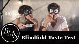 Blindfold Taste Test Challenge with Erwan Heussaff | Laureen Uy
