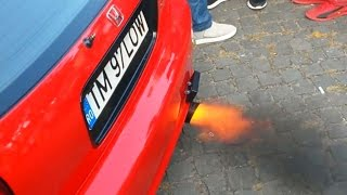 Loud Honda Civic Ej9 swap D16 - 2 Step Launch Control and Backfire - Fabric Tuning Show 2016