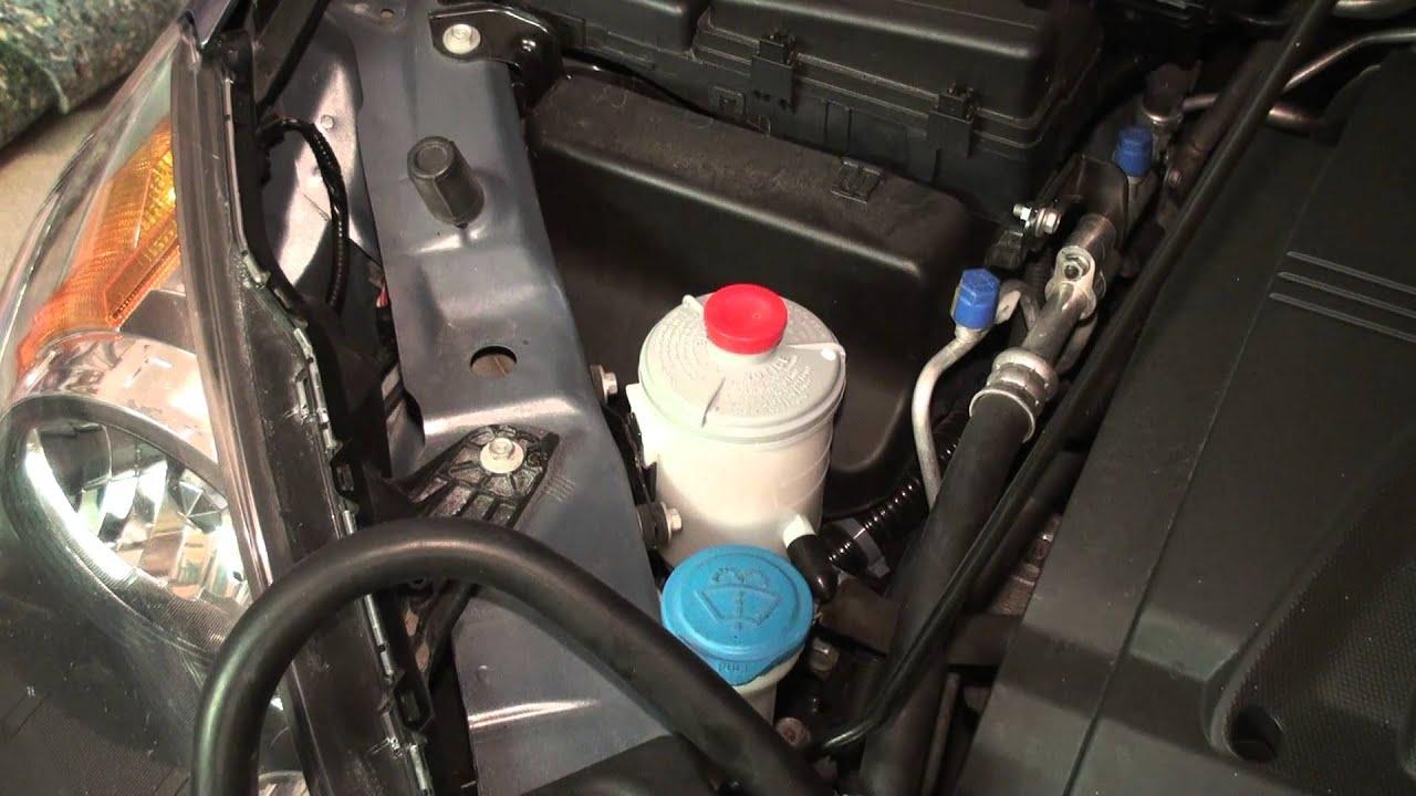 2003 Honda Odyssey Fuel Filter Location Honda Odyssey Power Steering Fluid Flush Youtube