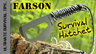 NEW! Survival / Bushcraft / Hunting Paracord Pocket Hatchet - Farson Blade - From Fremont Knives