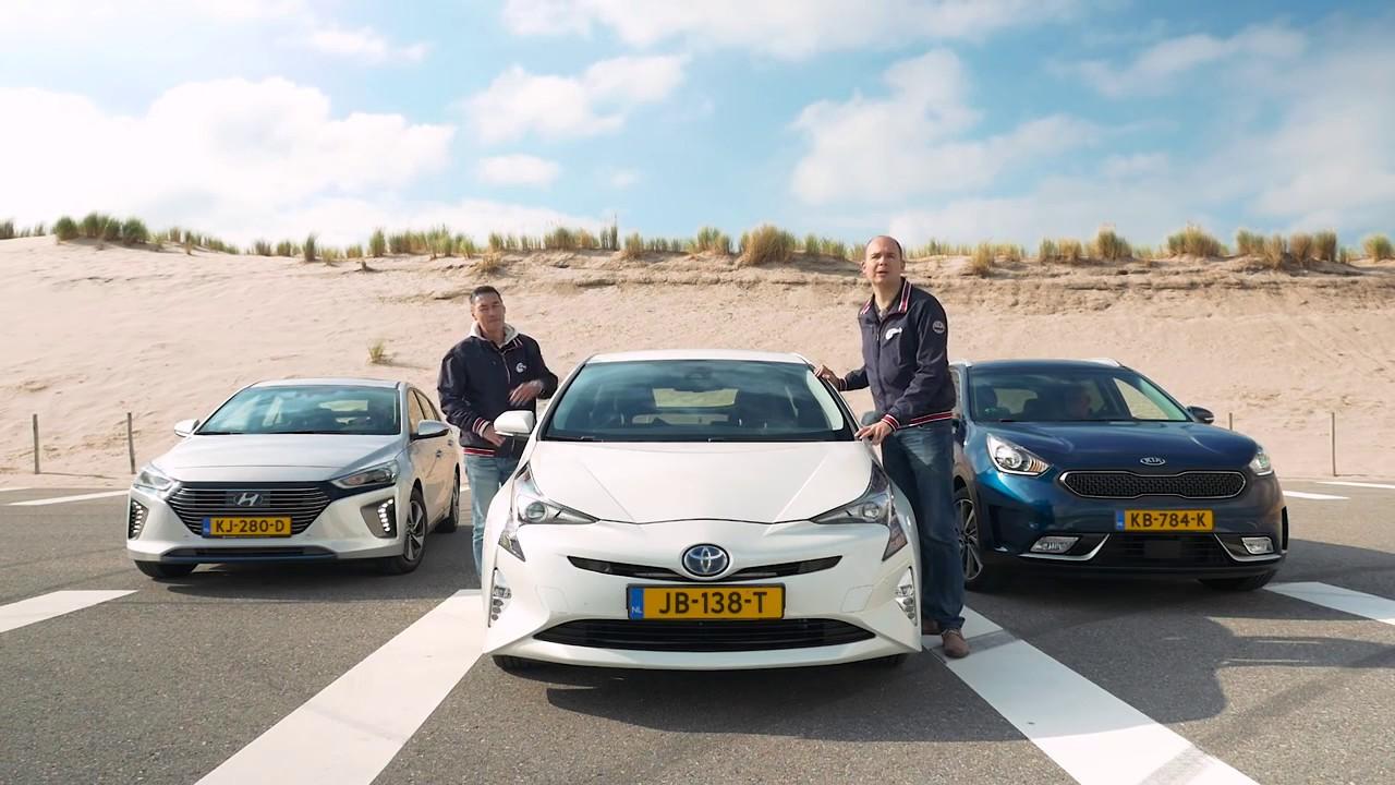 Anwb Triotest Hyundai Ioniq Kia Niro En Toyota Prius 2016