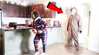 MICHAEL MYERS SCAR3 ON GIRLFRIEND!!! (MUST WATCH)