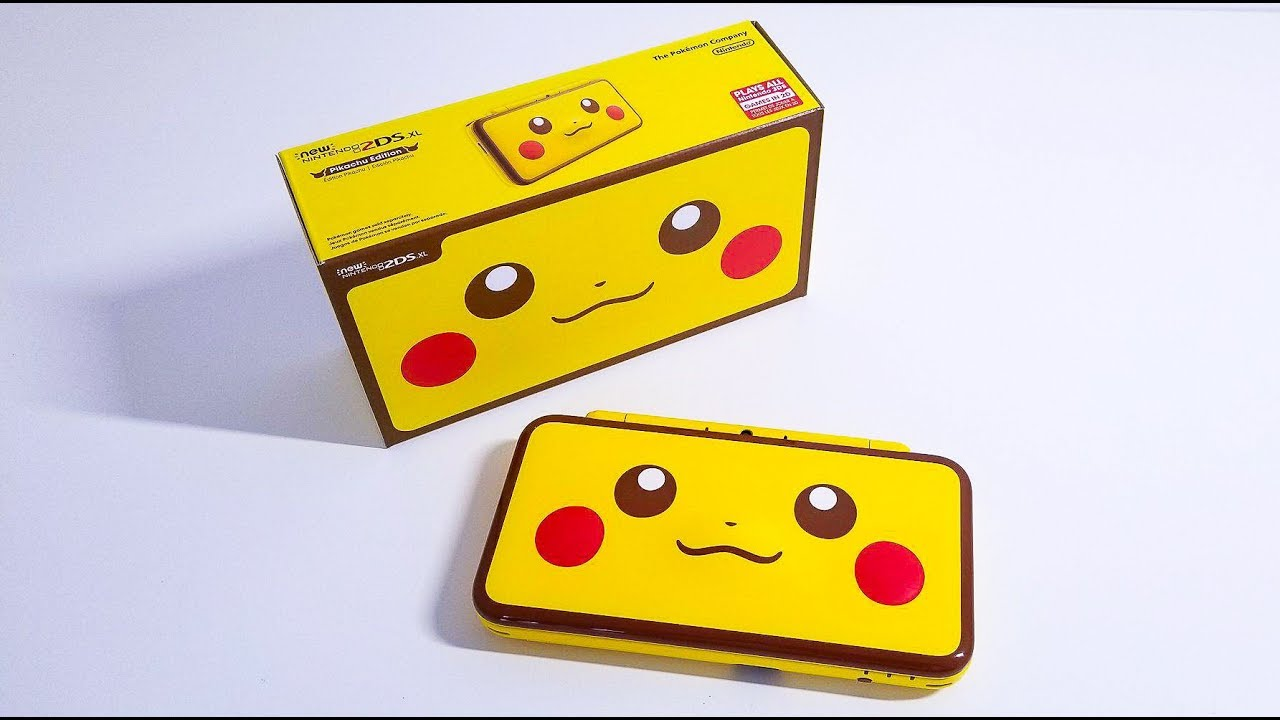 Unboxing The New 2ds Xl Pikachu Edition Youtube