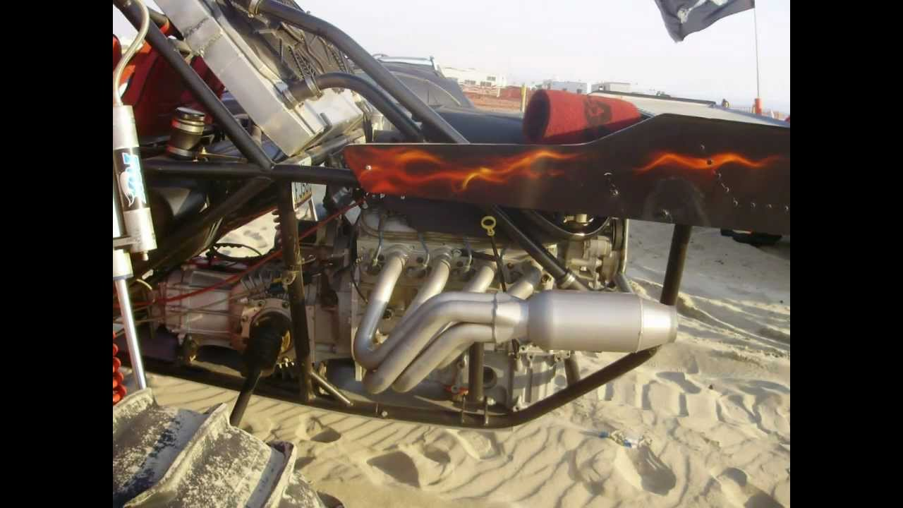 Sand Rail Exhaust : Corvette engine sand rail dune buggy at pismo beach ca
