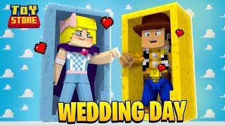 WOODY & BO PEEP GET MARRIED! *TOY STORY 4*| Minecraft Toy Store | Little Kelly