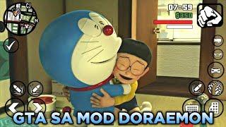 LUCU!! Hanya 20Mb GTA SA LITE DORAEMON MOD With NOBITA House for Android