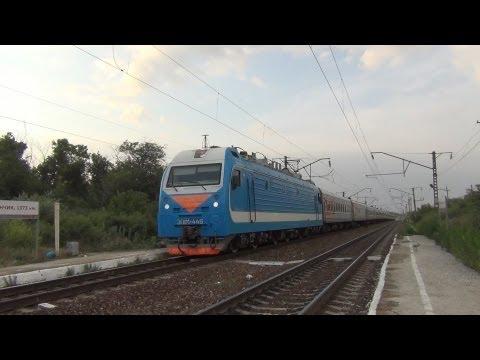 ЭП1М-446 с поездом №198 Иркутск — Кисловодск
