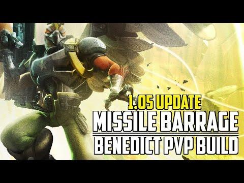 """Battleborn - """"Missile Barrage"""" - Benedict PVP Build Guide (1.05 Update)"""