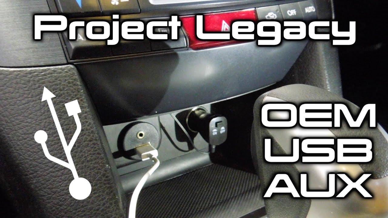 2006 2007 2008 2009 Subaru Legacy Gt AUX Port OEM Radio Aux