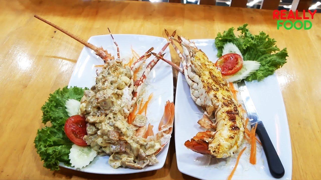 Phuket lobster baked with cheese | กุ้งมังกรอบชีส