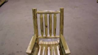 Amish Made Montana Log Furniture Child Rocker By Montana Woodworks