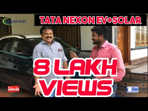 SOLAR CAR | ZERO EXPENSE | FUEL FROM SUN | TATA NEXON EV | 300KM FREE