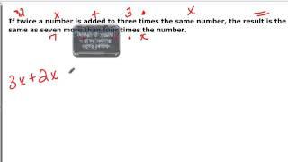 097-B12  Translating into Equations