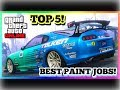 TOP 5 AWESOME PAINT JOBS FOR THE NEW JESTER CLASSIC ( Toyota Supra ) | GTA 5 ONLINE!