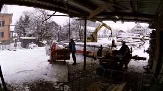 Brennholz spalten Fischlinhof