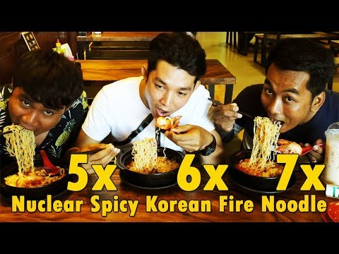 5x 6x 7x Nuclear Spicy Korean Fire Noodle Challenge | Most Spicy Eating Show Ever