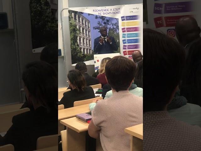 Discours du Dr Denis MUKWEGE Prix Nobel de la Paix à l'inauguration d'un amphithéâtre IUT St Denis