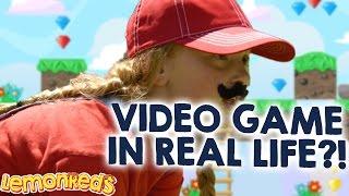 Mia & Anson in REAL Life Video Game - ROXs | like Super Mario and Luigi. Better than Pokemon Go