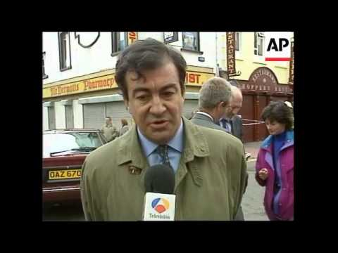 N. IRELAND: AUGHER: FUNERAL OF 2 OMAGH BOMB VICTIMS
