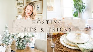 HOSTING TIPS & TRÏCKS | Perfect Holiday Hosting | How to Host the Perfect Dinner Party