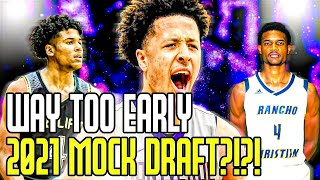 The Way Too Early 2021 NBA Mock Draft?!?!