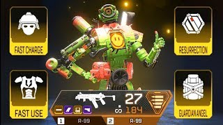 THE FULLY GOLDEN CLUTCH with DUAL R-99 in Apex Legends