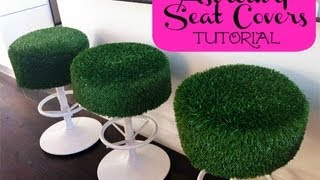 Diy Seat Covers || Astroturf Patio