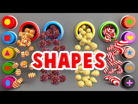Thumbnail: Learn Shapes for Toddlers Kids Babies with A Lot of 3D Candy Surprise Eggs