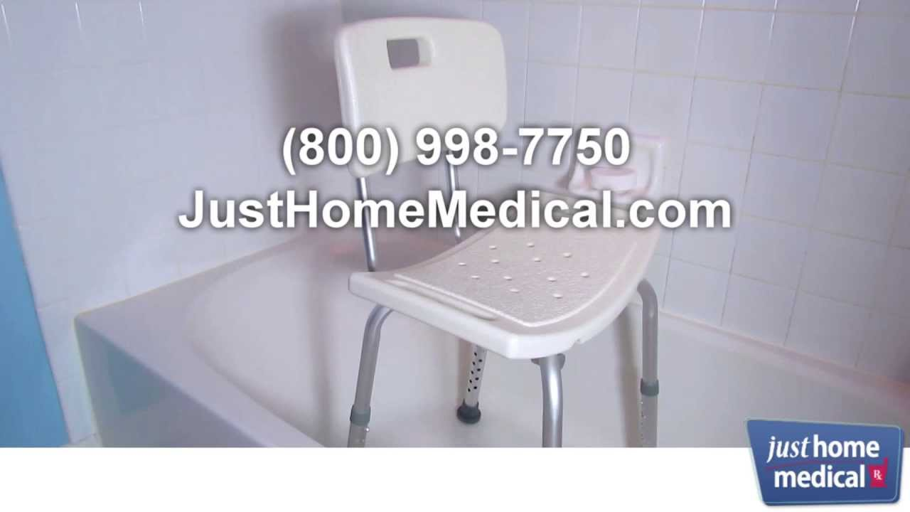 Just Home Medical: Invacare CareGuard Tool-Free Shower Chair - YouTube