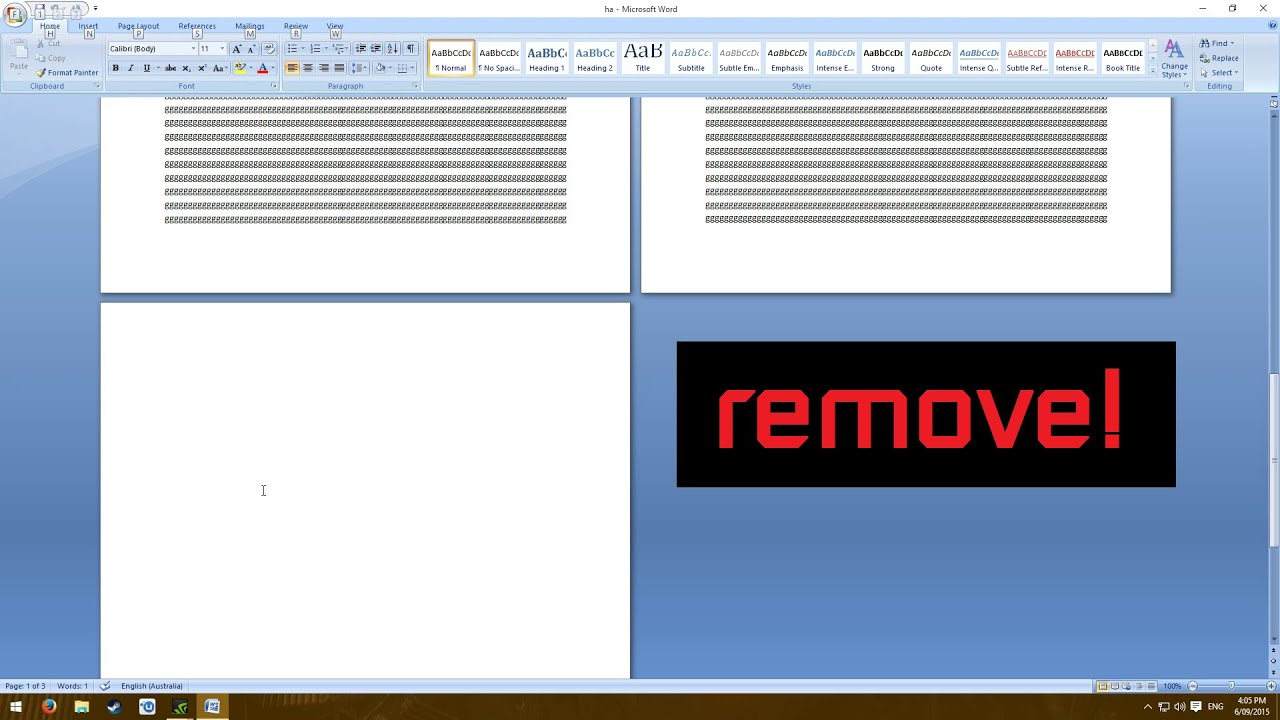 How To Remove A Blank Page In Microsoft Word